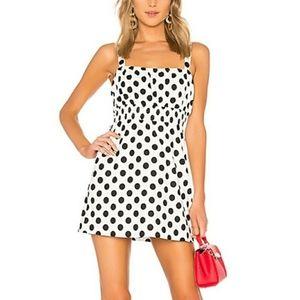 L'academie Cruz Mini  Polka Dot Dress
